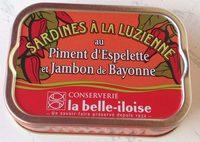Sardines a la luzienne - Product - fr