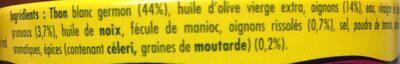 Emietté de thon zanzibar (pruneaux et épices) - Ingrédients