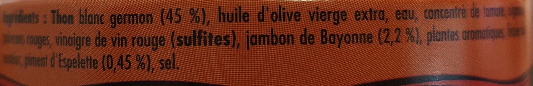 Emietté de thon à la Luzienne - Ingrédients