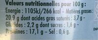 Pack de 4 boites d'émietté de thon à la marie-galante - Voedingswaarden - fr