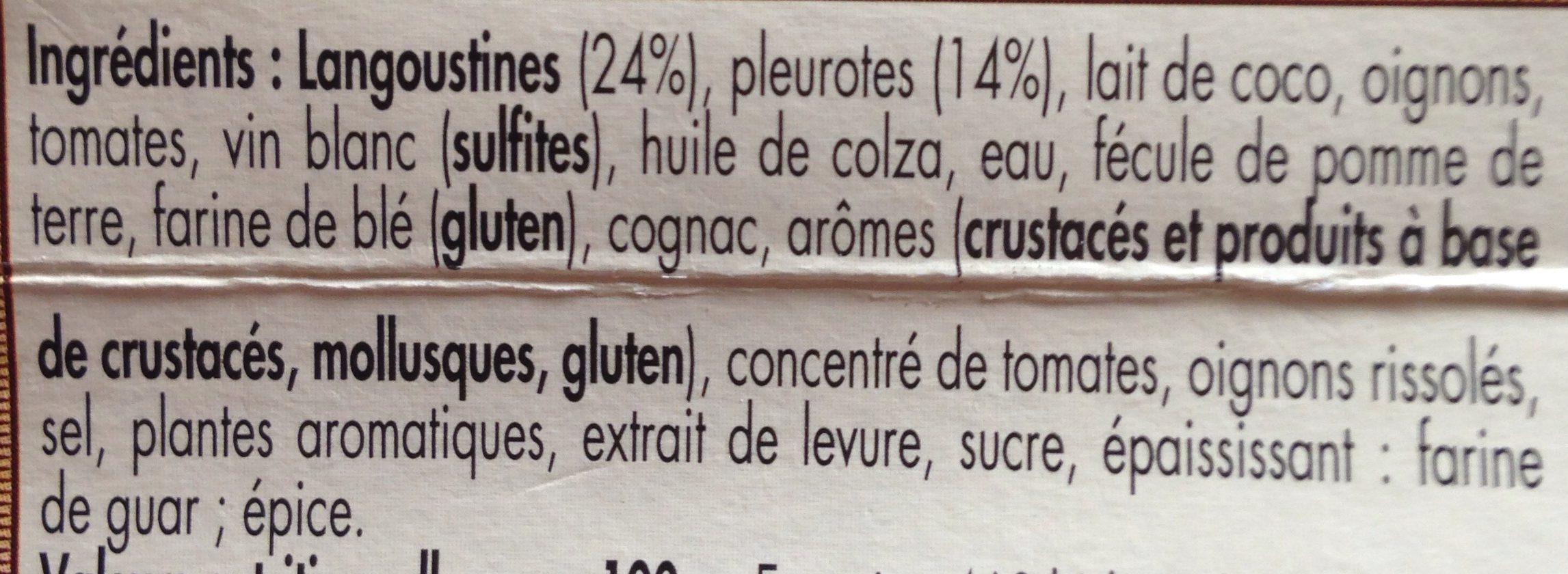 Petite Marmite De Langoustines Aux Pleurotes - Ingredients
