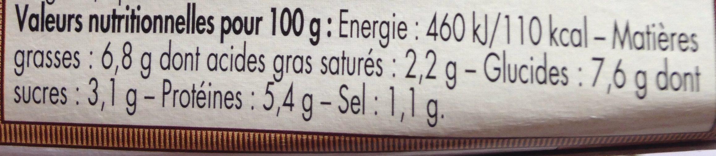 Petite Marmite De Langoustines Aux Pleurotes - Nutrition facts