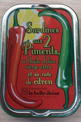 Sardines aux 2 piments, à l'huile d'olive et sa note de citron - Product - fr