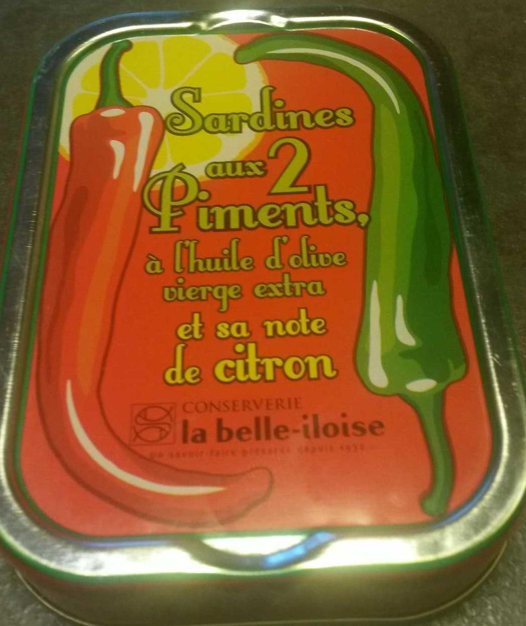 Sardines aux 2 piments, à l'huile d'olive vierge extra et sa note de citron - Produit