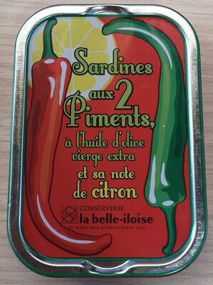 Sardines aux 2 piments, à l'huile d'olive et sa note de citron - Product