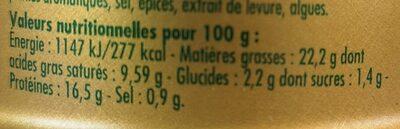 Rillettes de Thon à la Parmesane - Voedingswaarden - fr