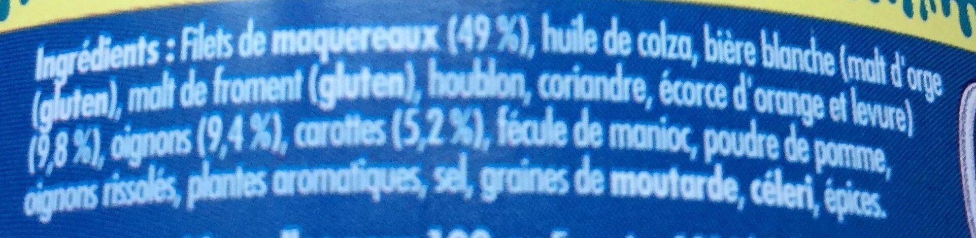Emietté de maquereaux à la bière blanche - Ingrediënten - fr