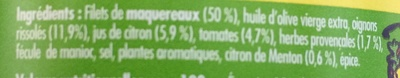 émietté de maquereau aux herbes et au citron de Menton - Ingredients