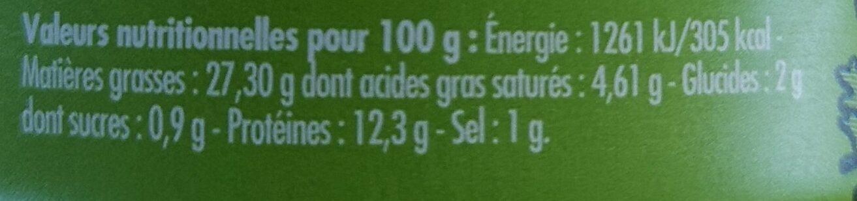 Emietté de maquereau aux herbes et au citron de Menton - Nutrition facts