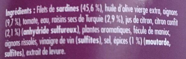 Émietté de Sardine Délices de Carthage - Ingredients