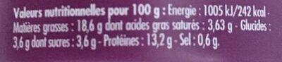 Émietté de Sardine Délices de Carthage - Nutrition facts