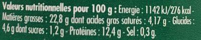 Emietté de sardine citron, olives et amandes - Nutrition facts