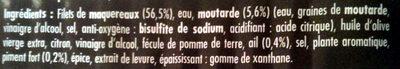 Filets de maquereaux façon Diablesse - Ingrediënten - fr