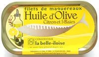 Filets de maquereaux huile d'olive citron et 5 baies - Product