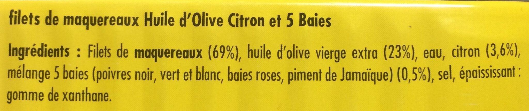 Melange Orange Et Rose filets de maquereaux huile d'olive, citron et 5 baies - la