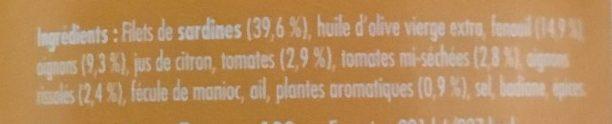 Emietté de sardine - douceur des bastides - Ingredients