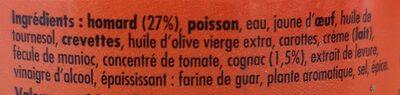 Mousse de homard au Cognac - Ingredients - fr