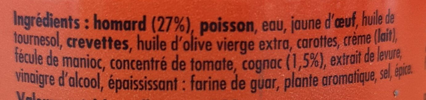 Mousse de homard au Cognac - Ingrediënten - fr