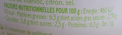 Cuillérable concassé d'artichaut au maquereau - Informations nutritionnelles