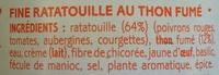 Fine ratatouille au thon fumé - Ingrédients