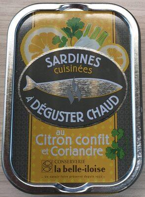 Sardines cuisinées à déguster chaud au citron confit et coriandre - Produit