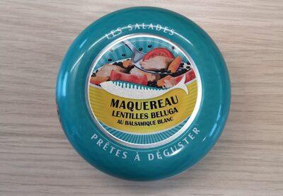 Les salades prêtes à déguster - Maquereau, lentilles beluga au balsamique blanc - Produit - fr