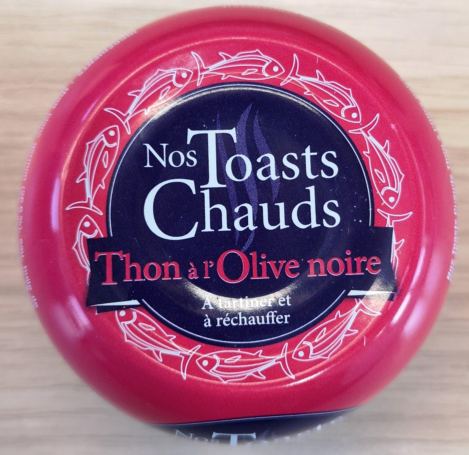 Nos toasts chauds Thon à l'olive noire - Produit