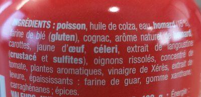 Nos toasts chauds Homard - Ingrédients