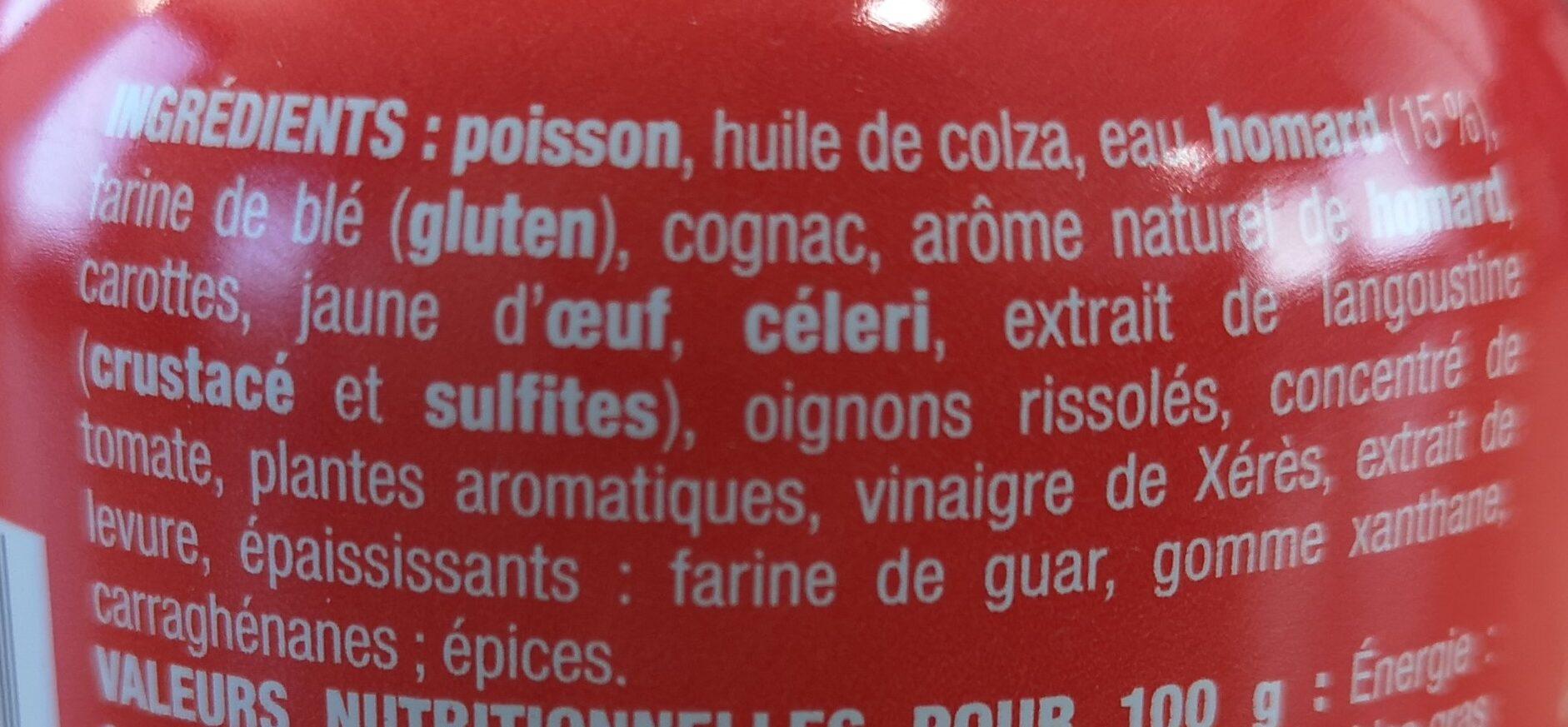 Nos toasts chauds Homard - Ingredients