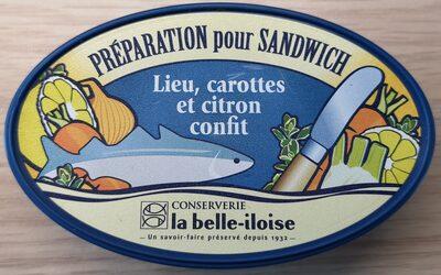 Préparation pour sandwich Lieu, carottes et citron confit - Product
