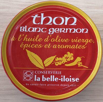 Thon blanc Germon, huile d'olive vierge, épices et aromates - Product