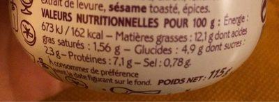 Caviar d'aubergines et cabillaud - Nutrition facts