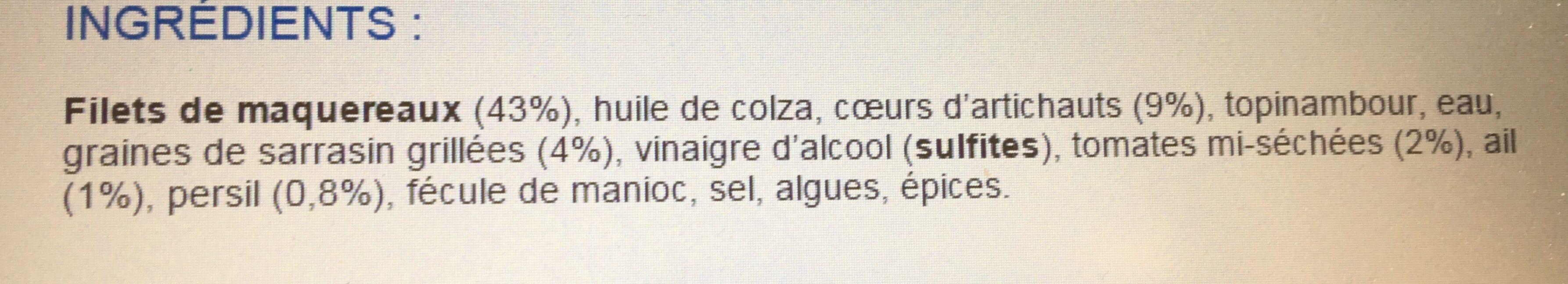 Emietté de maquereau coeur d'Argoat - Ingredienti - fr