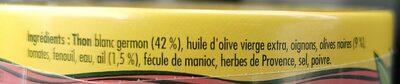 Émietté de thon Saveurs de la Garrigue - Ingredienti - fr