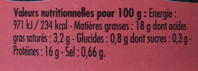 Émietté de thon Saveurs de la Garrigue - Valori nutrizionali - fr