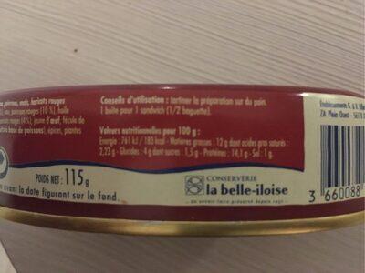 Préparation pour sandwich - Informations nutritionnelles - fr