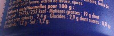 Crème de Saumon rose du Pacifique  à l'estragon - Nutrition facts