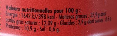 Crème de sardine au whisky - Voedingswaarden