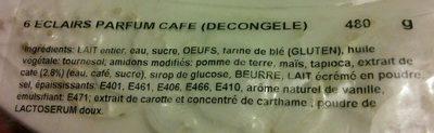 Eclairs - Ingrédients - fr