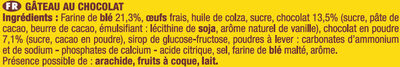 Savane Tout Choco - Ingrédients - fr