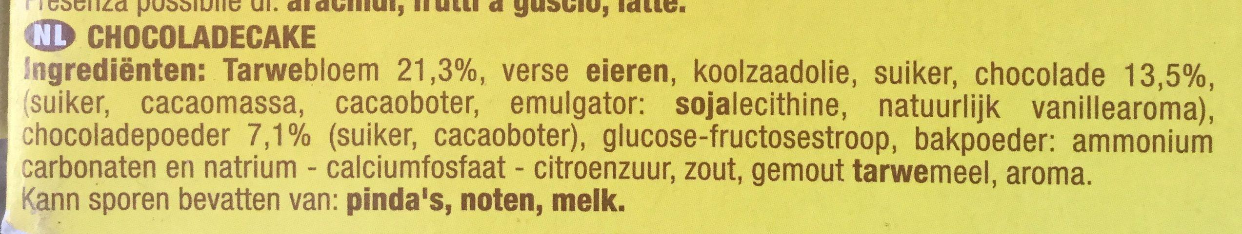 Savane Tout Choco - Ingrediënten
