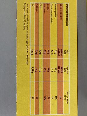 Savane tout choco - Nutrition facts - fr