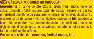 Savane Chocolat - Ingrédients - fr