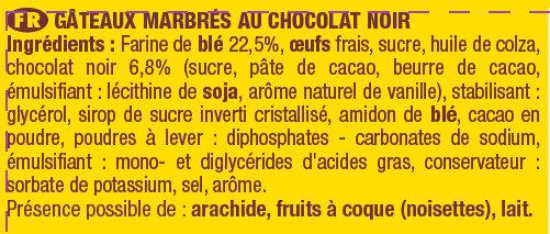 Savane Chocolat Noir - Ingredients