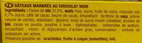 SAVANE POCKET CHOCOLAT NOIR - Ingrédients - fr