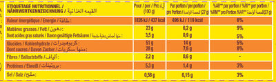 Savane Chocolat Noir - Nutrition facts