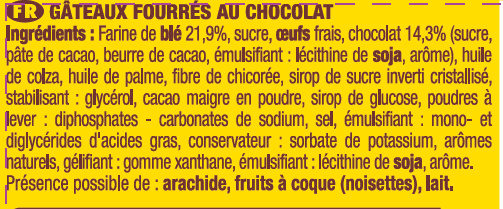Savane Pocket x 14 Barr - Ingrediënten - fr
