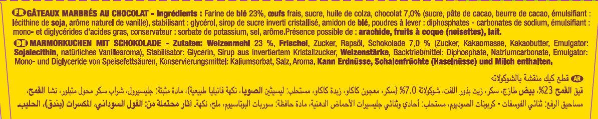 SAVANE POCKET CHOCOLAT - Ingredienti - fr