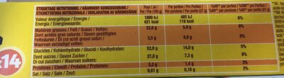 SAVANE POCKET CHOCOLAT - Valori nutrizionali - fr