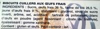 Cuillers Dégustation - Ingrédients - fr
